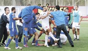 Hapoel Ramat_Gan_and_Hapoel_Bnei_Lod_violence_23-04-12