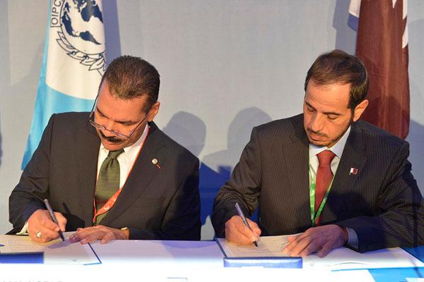 Ronald K_Noble_and_Sheikh_Abdulla_bin_Nasser__Al_Thani_06-11-12