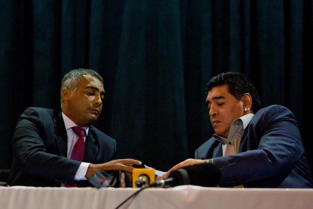 Romario and Maradona