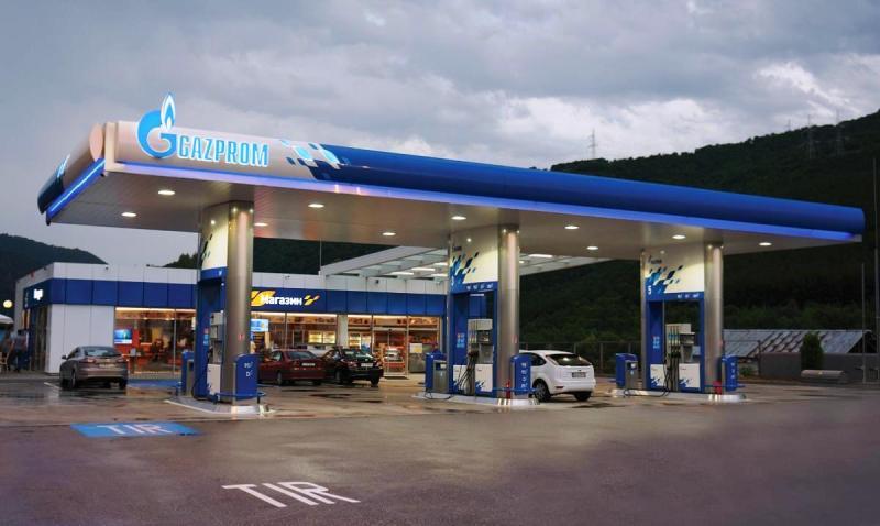 Gazprom petrol stations