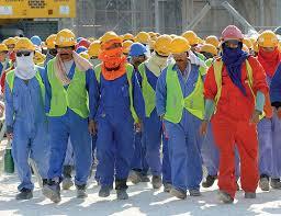 Qatari workers