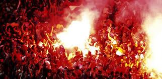 football crowd flares