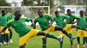 Mauritanian players training