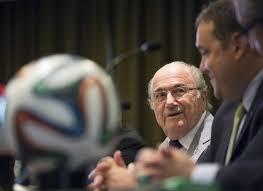 Sepp Blatter and Victor Montagliani