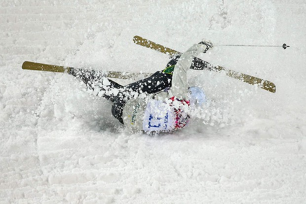 Winter Olympic crash
