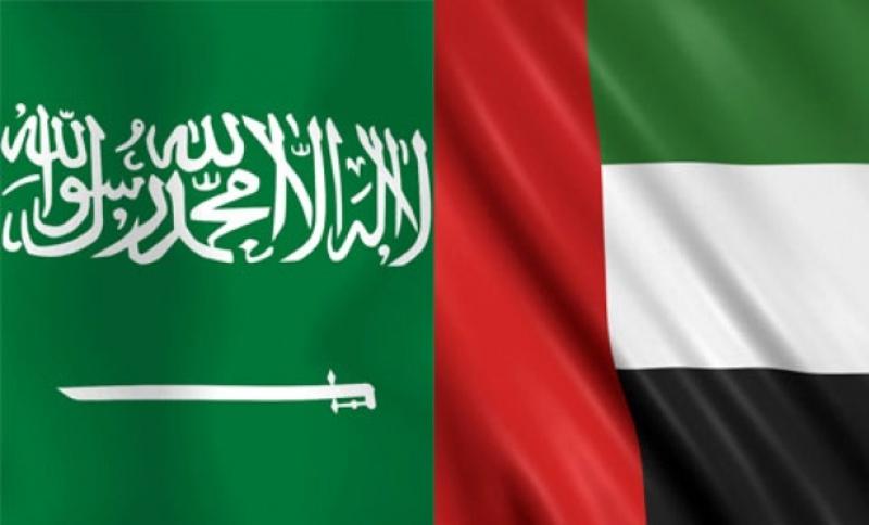 Saudi and UAE flags