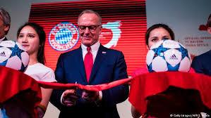 Rummenigge opens Bayern office in Shanghai
