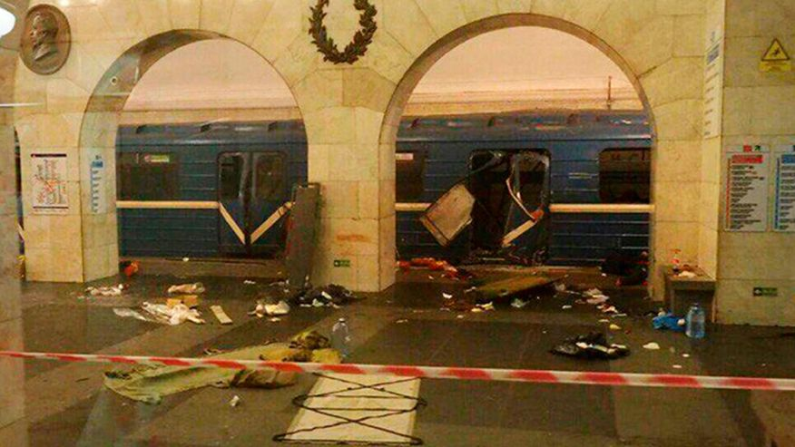 St Petersburg bomb blast