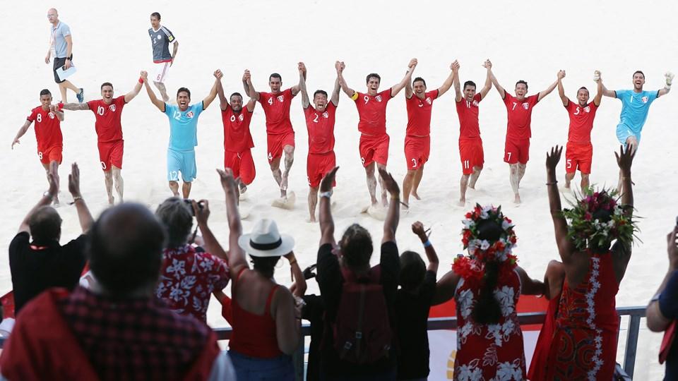 Tahiti celebrate win