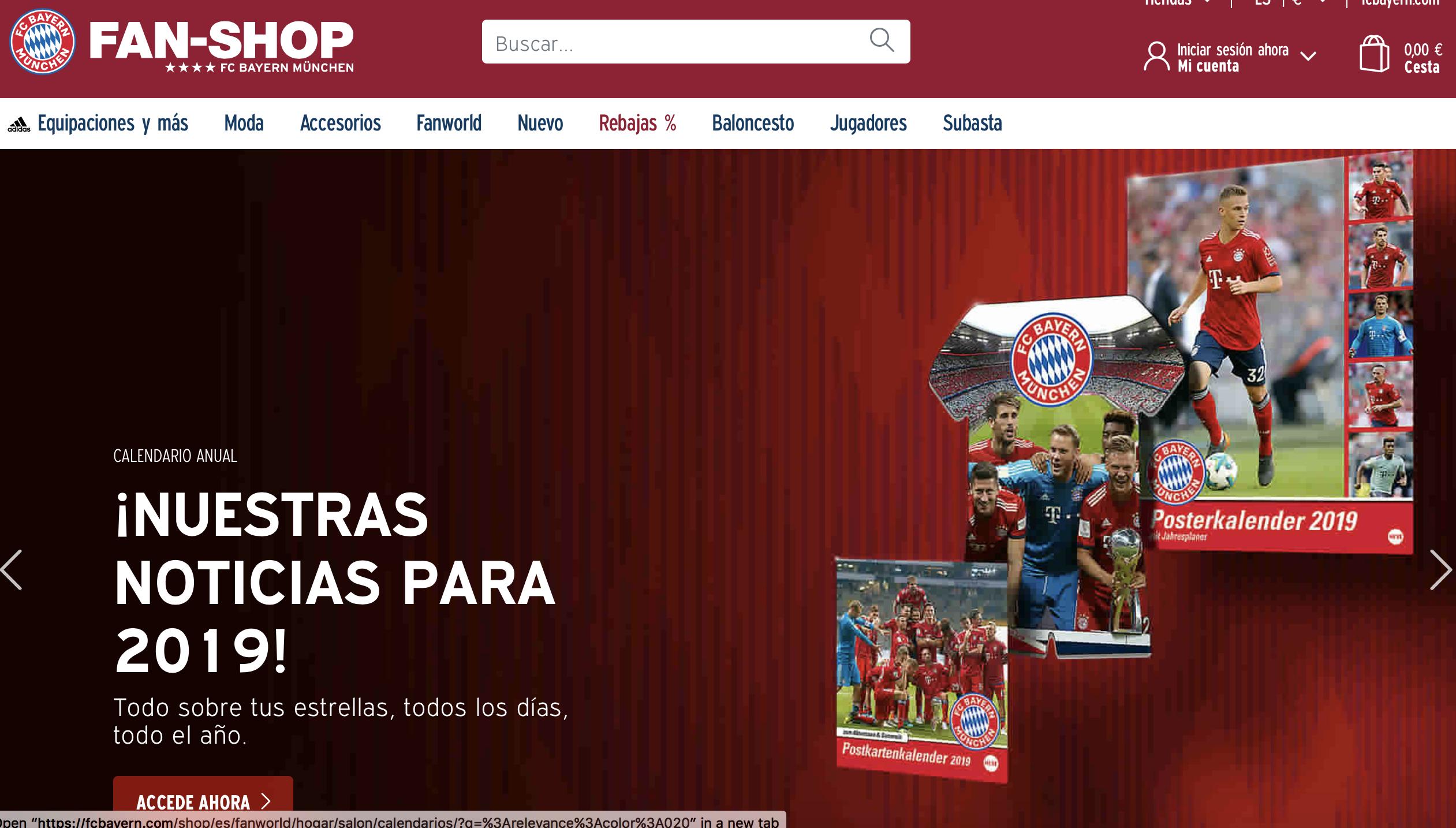 bayern target latin america with spanish language online shop inside world football. Black Bedroom Furniture Sets. Home Design Ideas